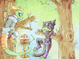 Wait.... Cake? by Jesseth