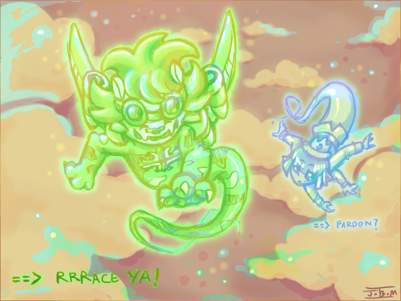 KernelSprites:Race through sky by Jesseth
