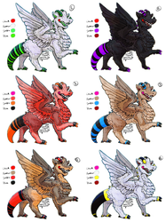 Open Species: Thanrex Adopt Sheet! by Jesseth
