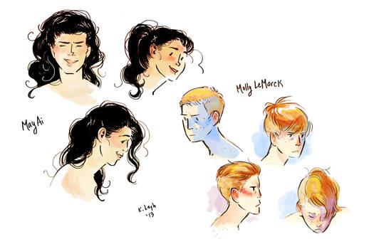 May and Molly hair