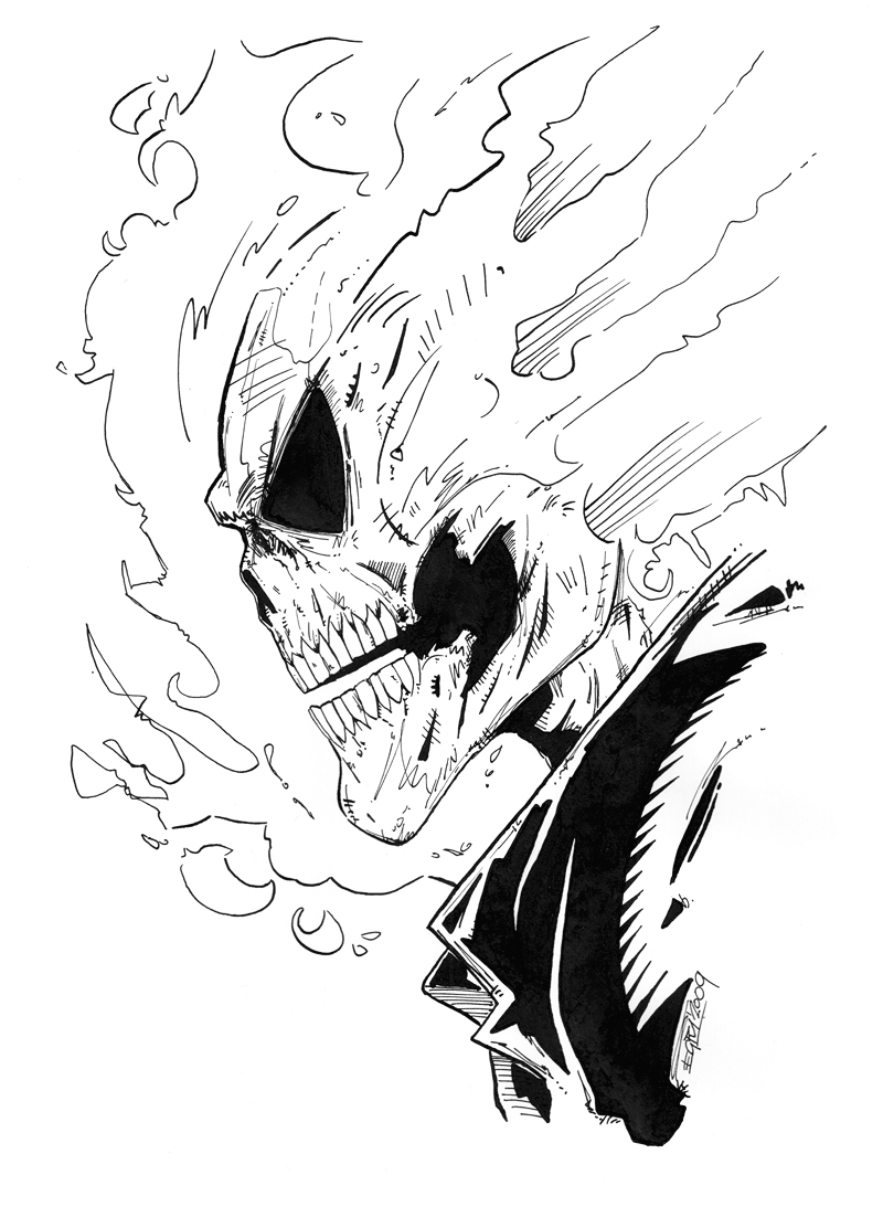ghost rider by piciart on deviantart