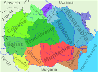 Historic Romanian Territories by Scooter20