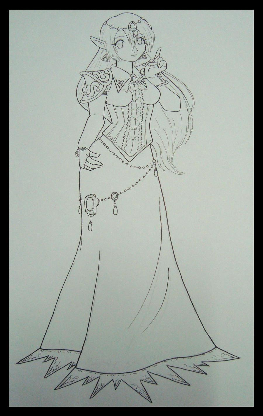 Lineart Zelda Evil Rebelion by zilia-k