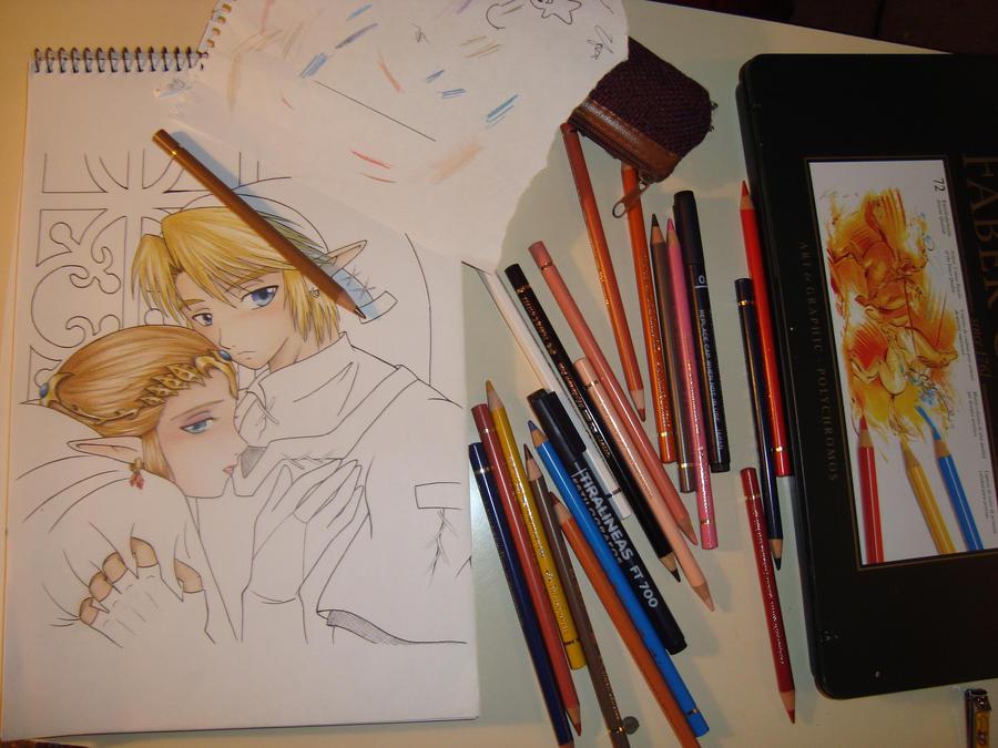 Pintando by zilia-k