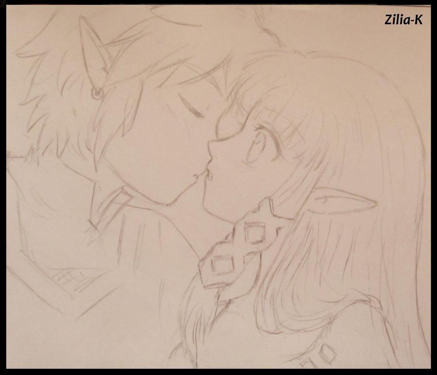 Boceto-kiss Zelink SS by zilia-k