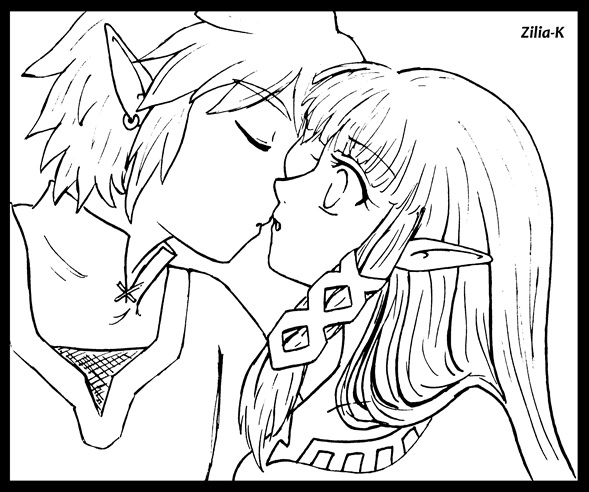 Line art- Kiss Zelink SS by zilia-k