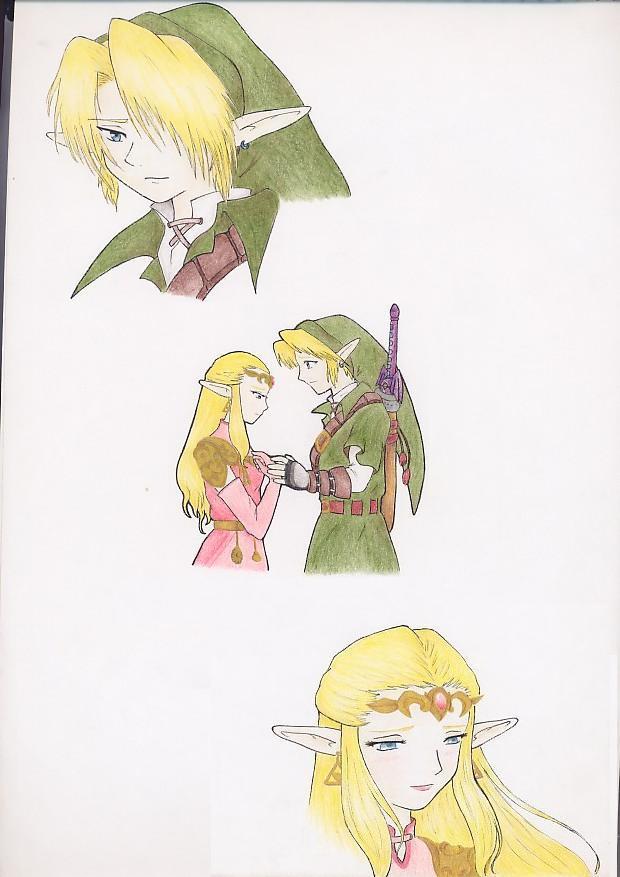 Link y Zelda by zilia-k