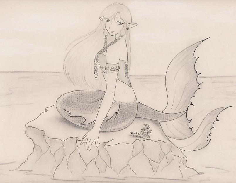 mermaid Zelda by zilia-k