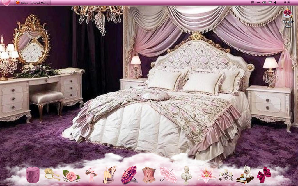 Purple princess room by vanillasky84 on deviantart for How to make a princess bedroom