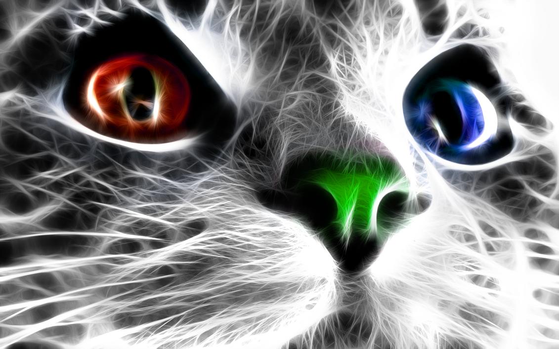 tiger fractal cats e - photo #34