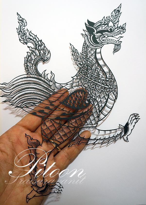 Paper Cutting Art : Nak Puksin by 8thLeo
