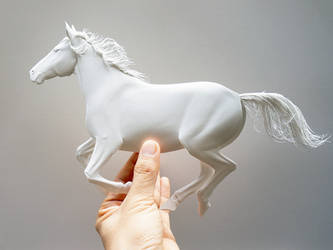 Horse paper sculpture