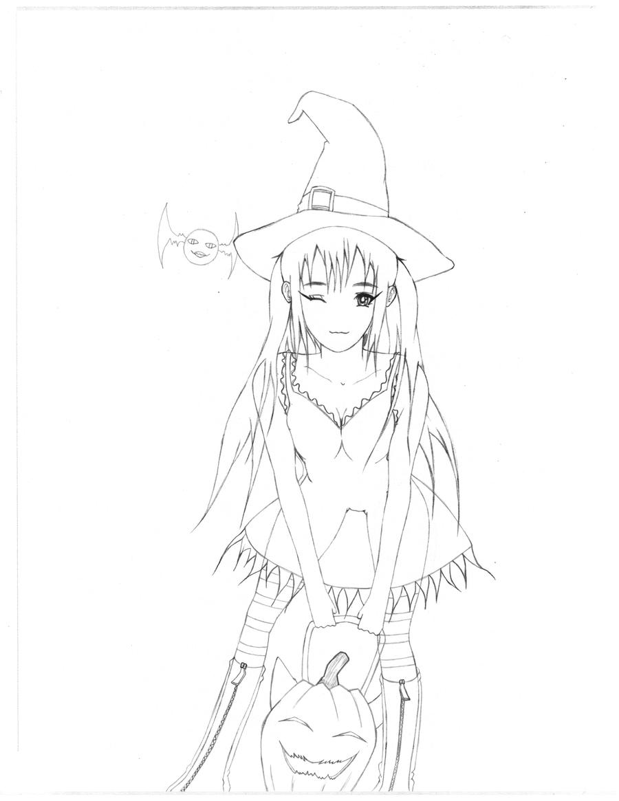 OC Deva old halloween sketch by xwx101