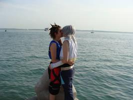 SoRiku - Seafront Kiss by KellyJane