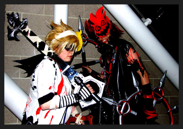 halloween town axel and roxas by kellyjane - Roxas Halloween Town