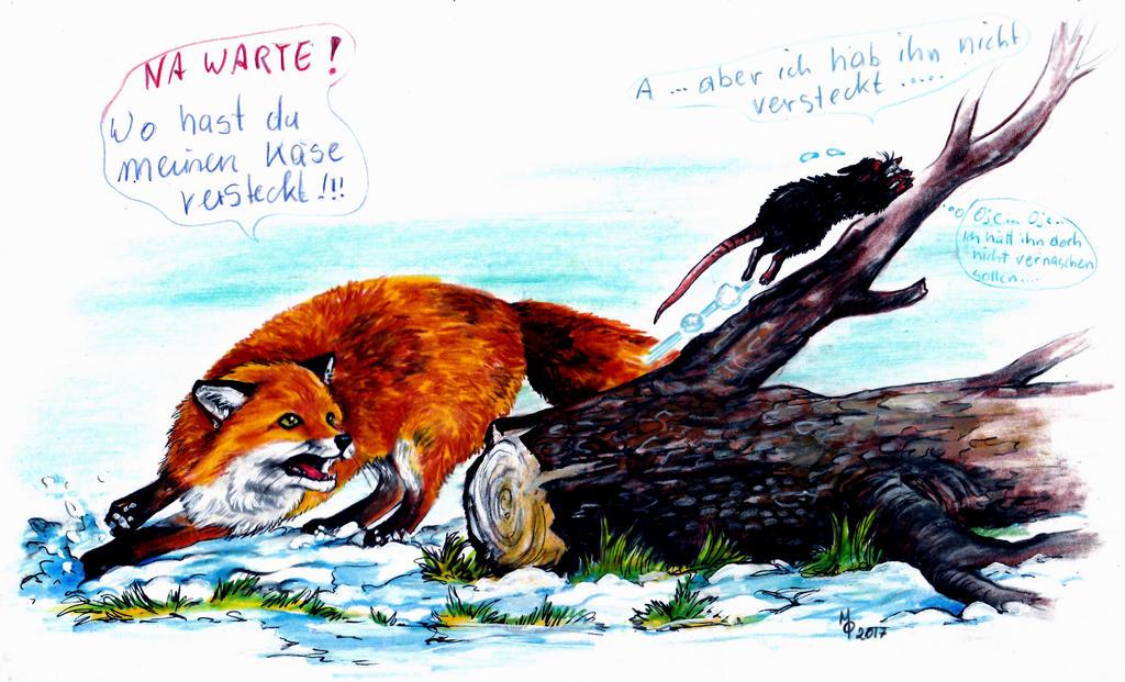 Fuchs jagt freche Ratte by MachaetFafnir
