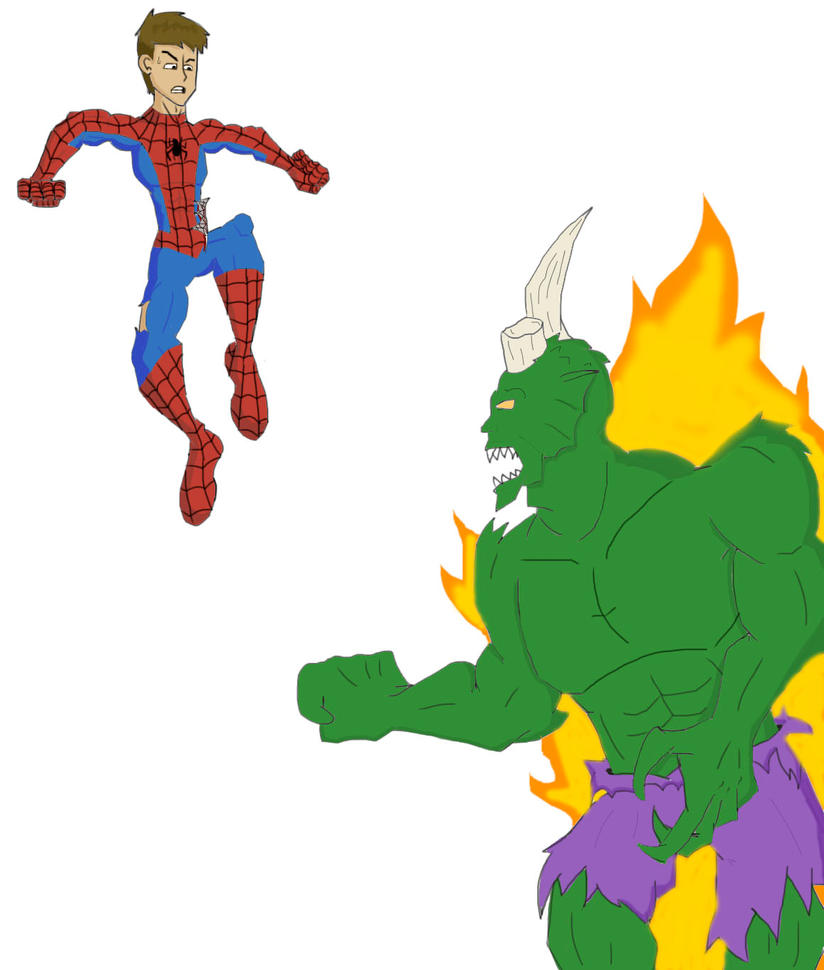 ultimate spiderman 160: peter vs the green goblin by ultimatejulio ...