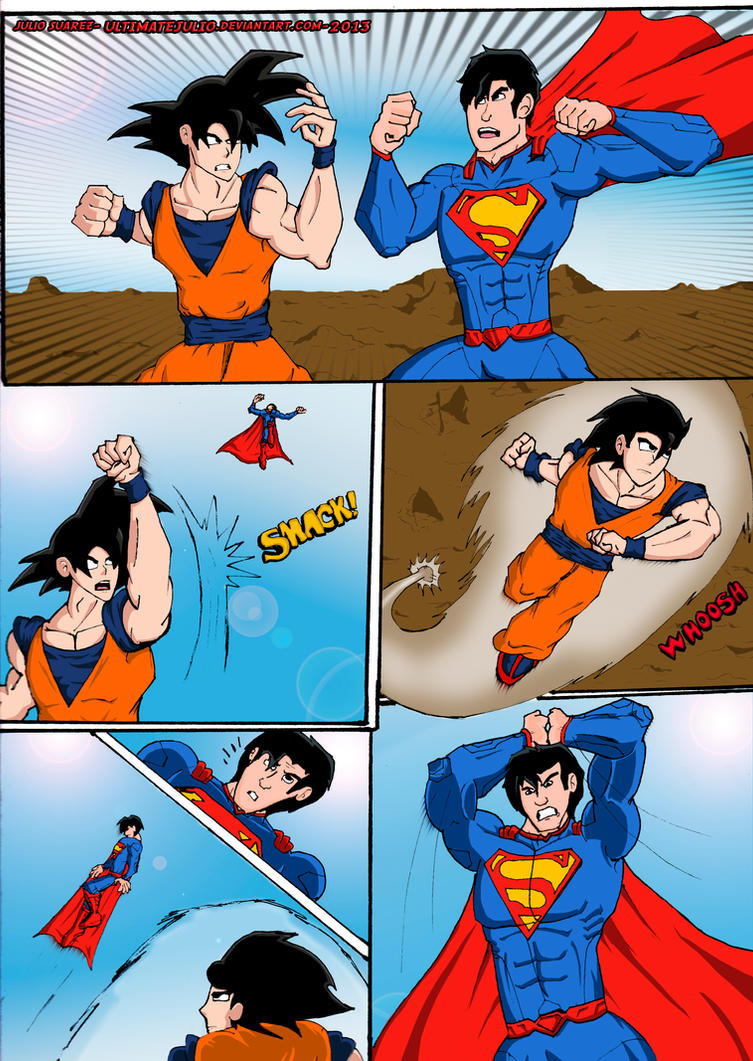 goku vs superman the ultimate battle 1 of 4 by ultimatejulio on