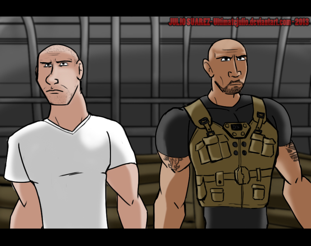 Fast and furious 6 - Dom and Hobbs by ultimatejulio on DeviantArt