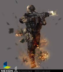 NEXON war face illustration work by boosoohoo