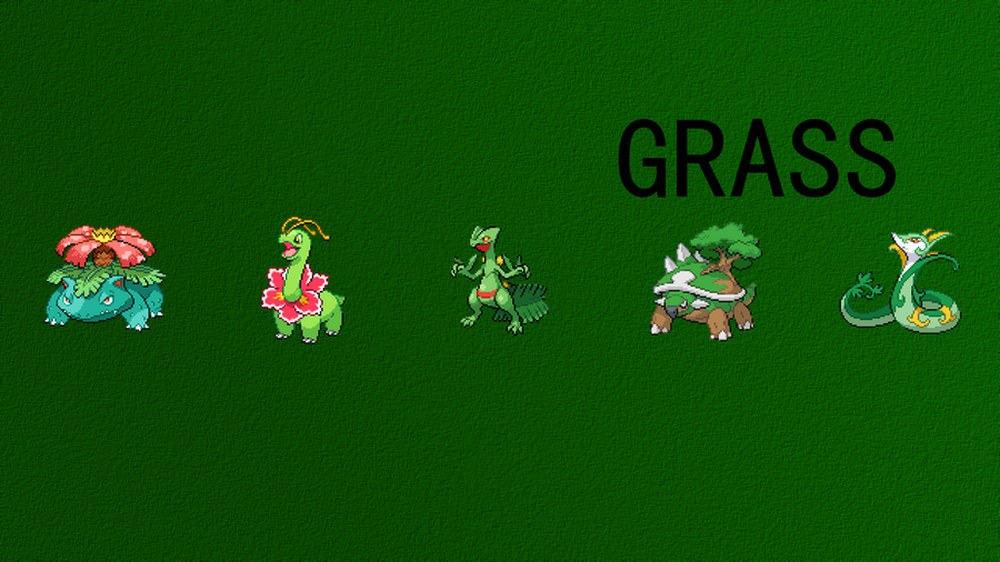 Order Pokemon Grass Starters Images | Pokemon Images