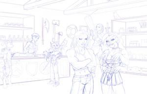 Fantasy sojourn pencils by DaveBarrack