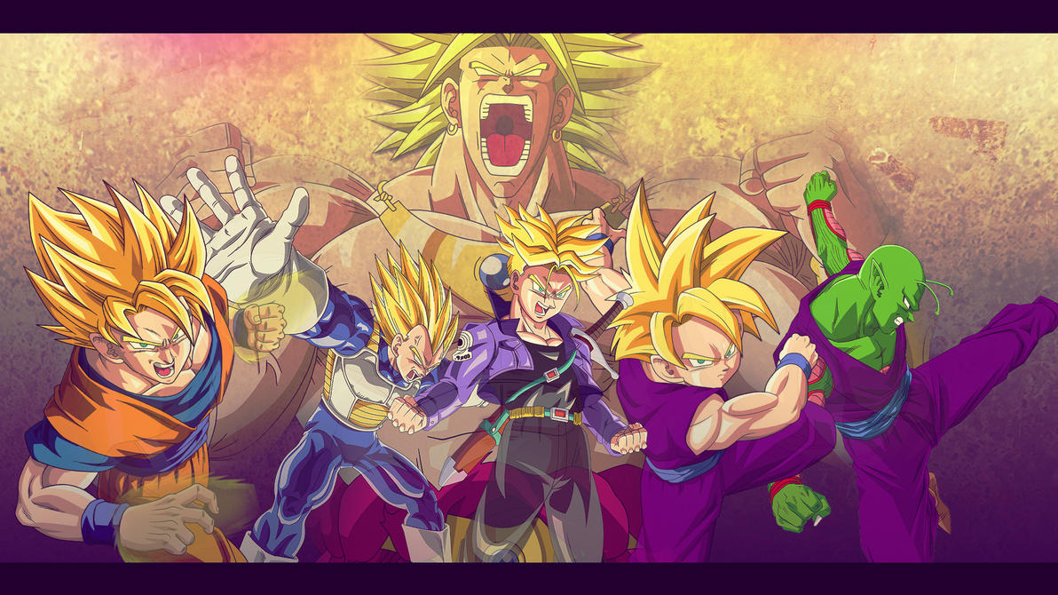 z fighters vs broly wallpaper 1920 1080 by oirigns on