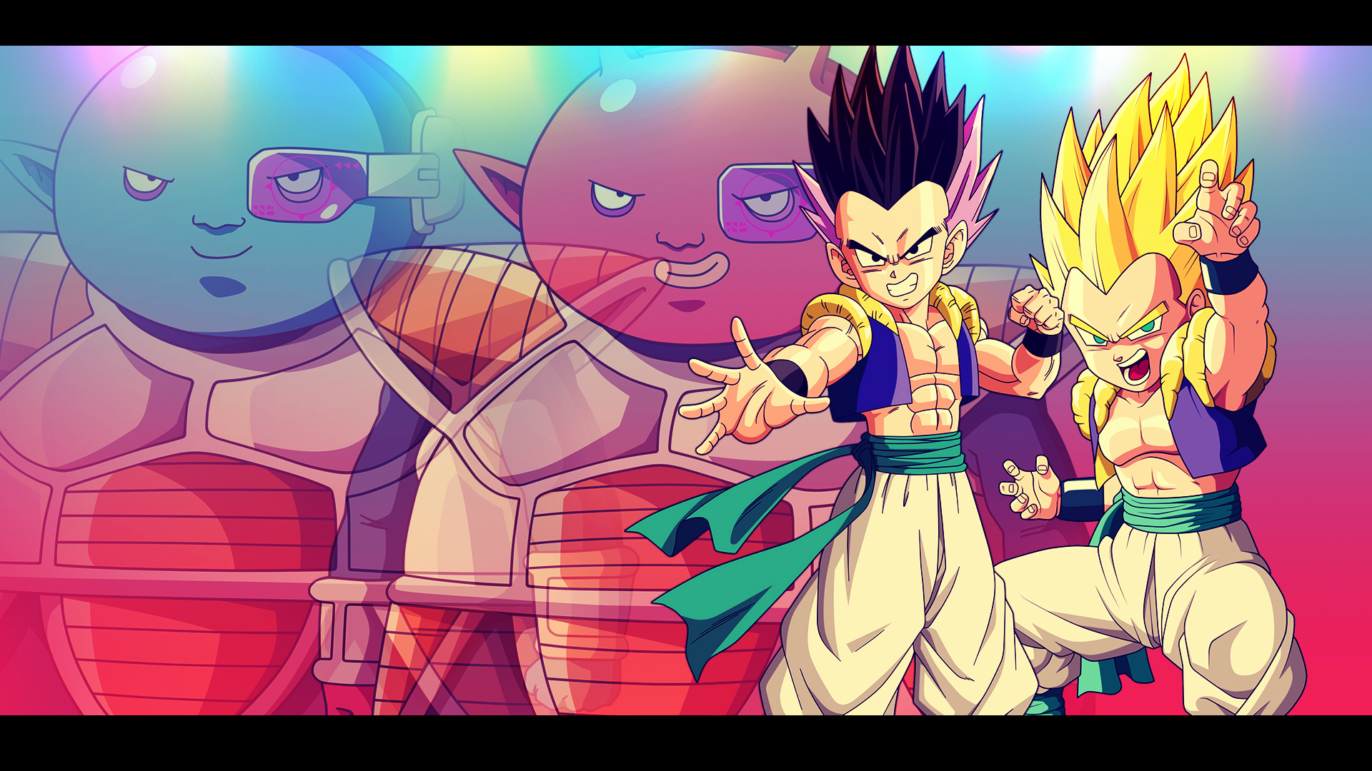 Gotenks Vs Abo Cado Dbz Wallpaper 1920 1080 By Oirigns On