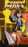 Steampunk Mega Man cover