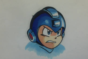 Mega Man Marker Doodle by MegaRyan104