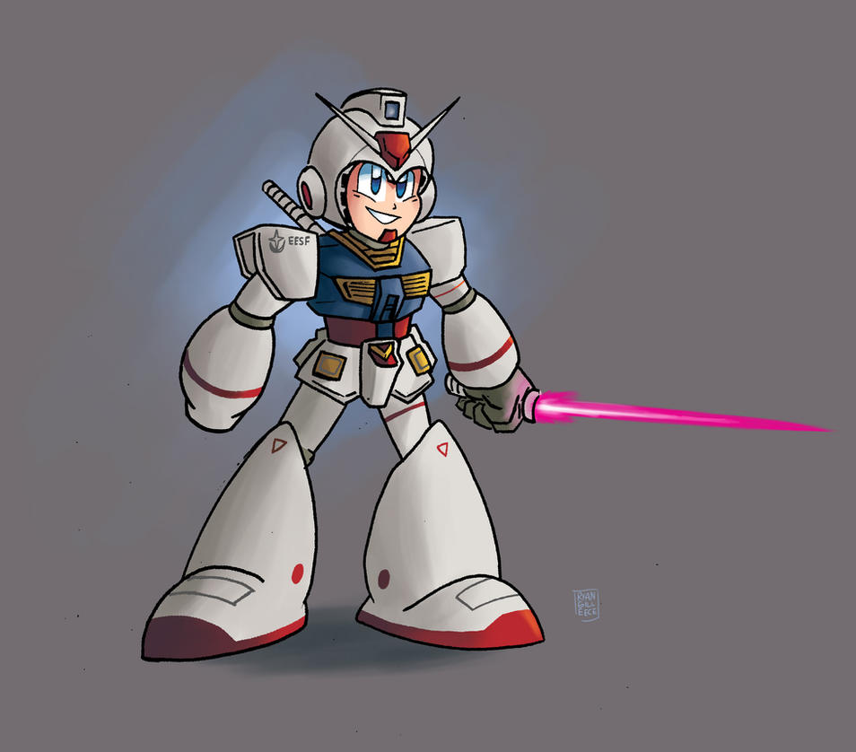 RX-78-2 Gundam Mega Man by MegaRyan104