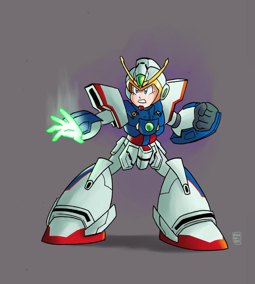 Shining Gundam Mega Man X by MegaRyan104