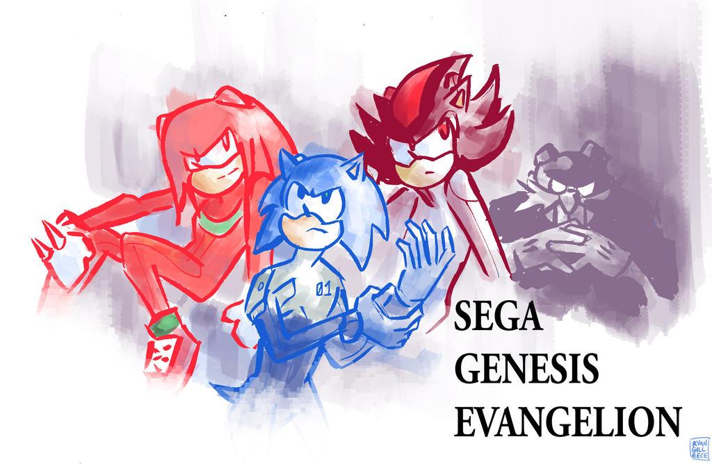 Sega Genesis Evangelion by MegaRyan104