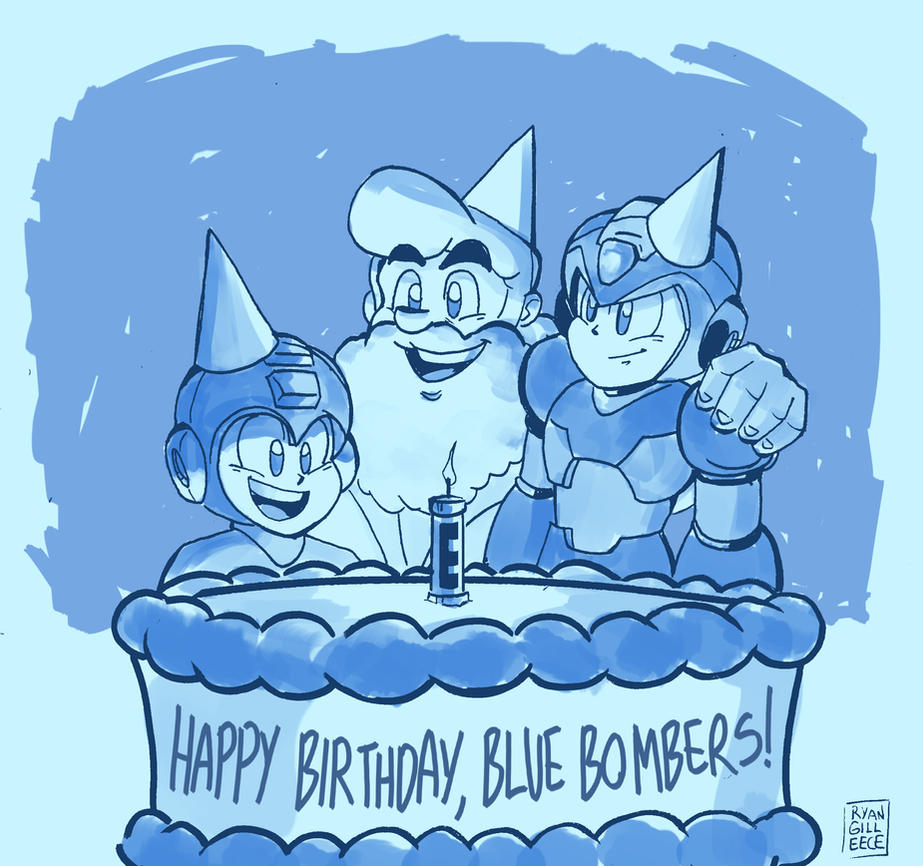 Happy Birthday, Mega Mans! by MegaRyan104