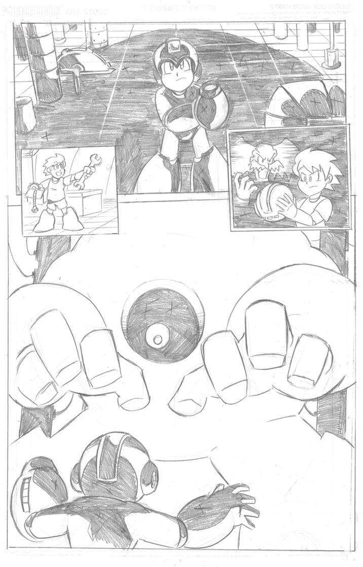 Mega Man Issue 4 Page 1 by MegaRyan104