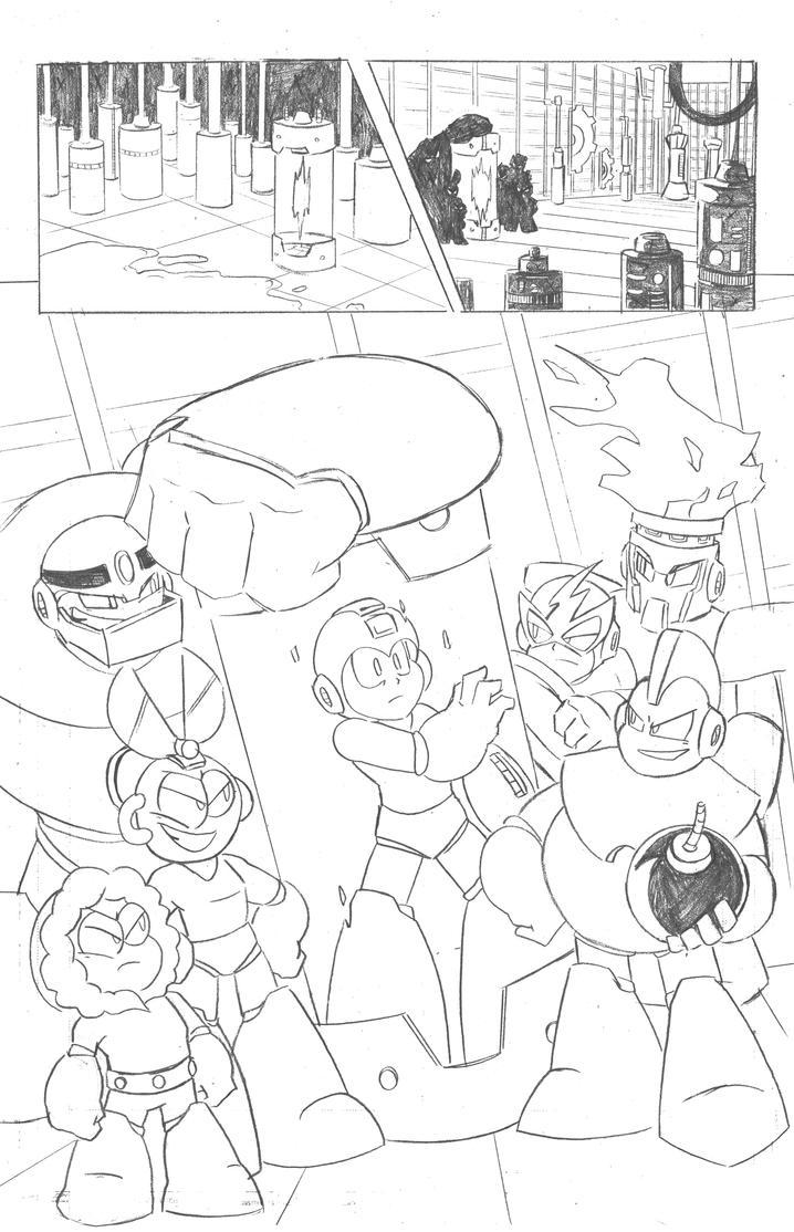 Mega Man Issue 4 Page 5 by MegaRyan104