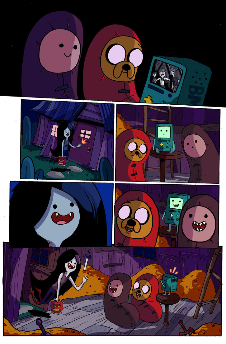 Adventure Time Sample Page 1 by MegaRyan104