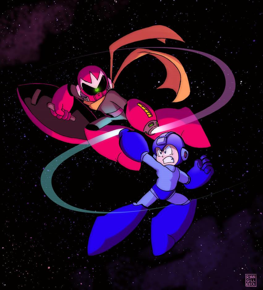 Mega Man vs. Break Man by MegaRyan104