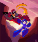 Mega Man vs. Proto Man by MegaRyan104