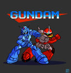 Mega Gundam and Proto Zaku
