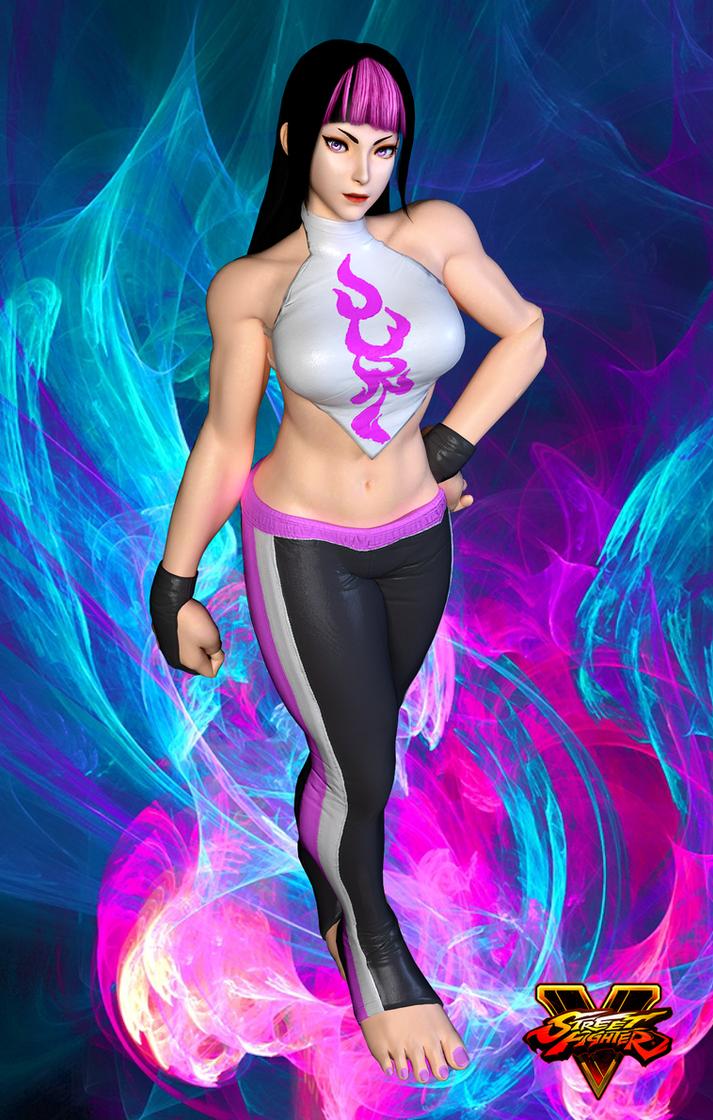 Juri Alt. Costume 2 - Street Fighter 5 by AnthonyMidnight