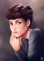 Audrey Hepburn: Gold by Wyncrosstanza