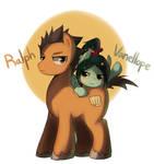 Wreck-It Ralph : Ralph and Vanellope pony