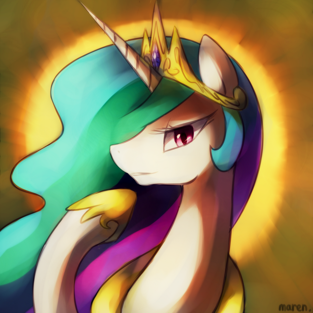 Beautiful Princess Celestia by Marenlicious