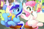 Commission 1 : Minuette and Twinkle shine