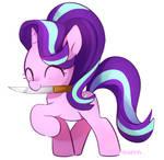 Starlight glimmer kill you with cute face !