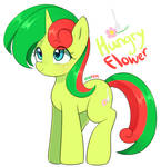 New oc pony : Hungry flower