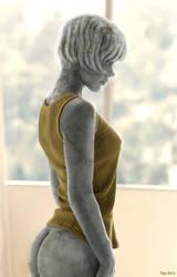 Sunlit Statue by Rastatue