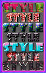 Seven beautiful styles for Photoshop
