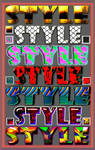 Bright styles for Photoshop